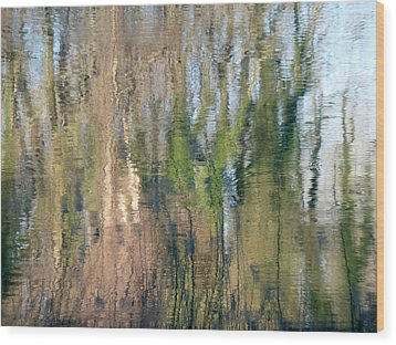 Wood Print featuring the photograph Reflet Rhodanien Pastel 1 by Marc Philippe Joly