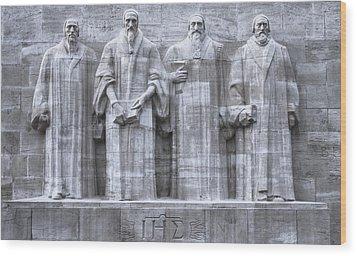 Reformers Wall, Geneva, Switzerland, Hdr Wood Print by Elenarts - Elena Duvernay photo