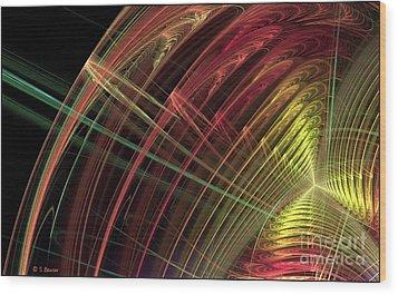 Refraction Wood Print by Sandra Bauser Digital Art