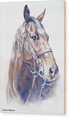 Regal  A Cavalry Horse Portrait Wood Print by Barbara Widmann