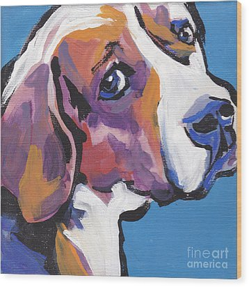 Regal Beagle Wood Print by Lea S