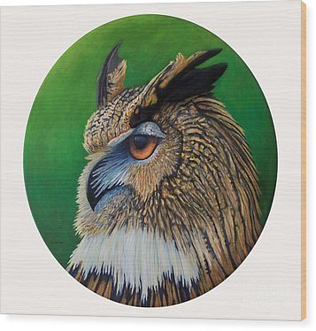 Regal Gaze Wood Print by Brian  Commerford