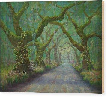 Regalia Wood Print by Dorothy Allston Rogers