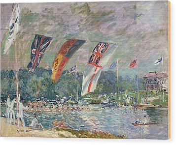 Regatta At Molesey Wood Print by Alfred Sisley