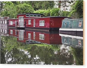 Regent Houseboats Wood Print by Keith Armstrong