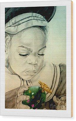 Regi Wood Print by Reggie Duffie