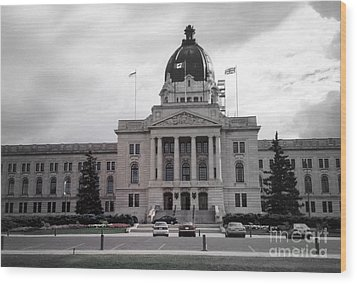 Regina Legislative Building Wood Print by Sonya Chalmers