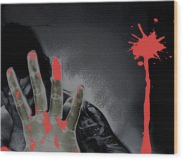 Regret Wood Print by Oscar  Servin