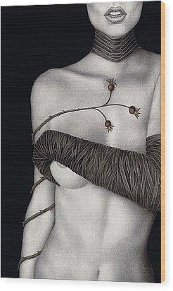 Regrets Wood Print by Pat Erickson