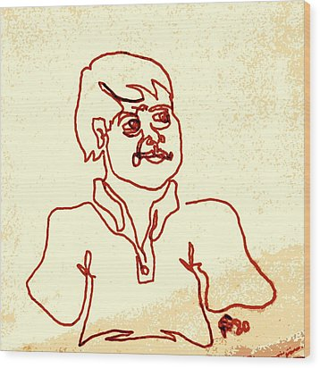 Regular Guy In Polo Shirt Wood Print by Sheri Buchheit