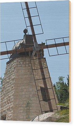 Rehavia Windmill Wood Print by Susan Heller