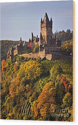 Reichsburg Castle Wood Print by Louise Heusinkveld