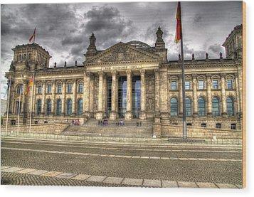 Reichstag Building  Wood Print by Jon Berghoff