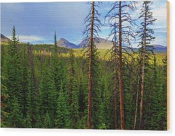 Reids Peak Wood Print by Chad Dutson