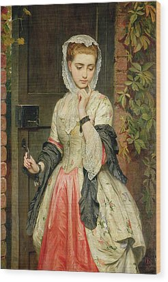 Rejected Addresses Wood Print by Charles Sillem Lidderdale