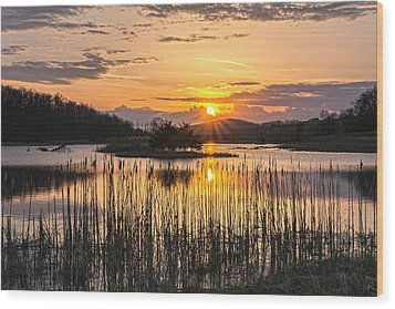 Rejoicing Easter Morning Skies Wood Print