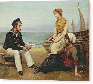 Relating His Adventures Wood Print by William Oliver