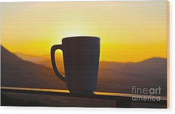 Relax At Sunset Wood Print by David Warrington