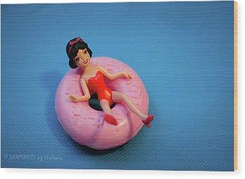 Relax Girl Wood Print by Stefanie Silva