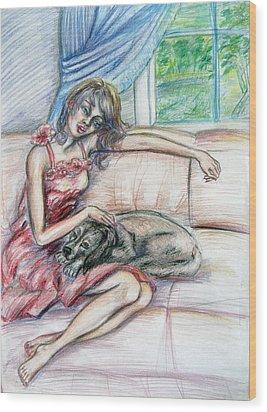 Relaxation  Wood Print by Yelena Rubin