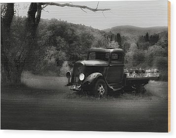 Wood Print featuring the photograph Relic Truck by Bill Wakeley