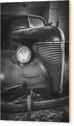 Old Car - Blue Ridge Mountains Wood Print