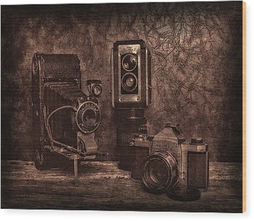 Relics Wood Print by Mark Fuller