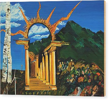 Religion And Nature Wood Print by Gregory Allen Page