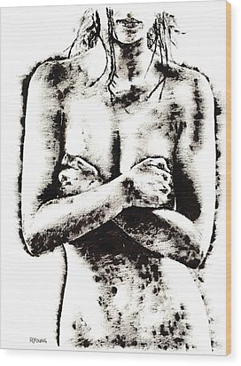 Reluctance Wood Print by Richard Young