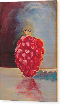 Remarkable Raspberry Wood Print by Diane Woods