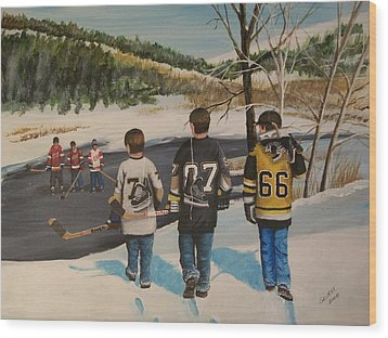 Rematch 2008 Wood Print by Ron  Genest