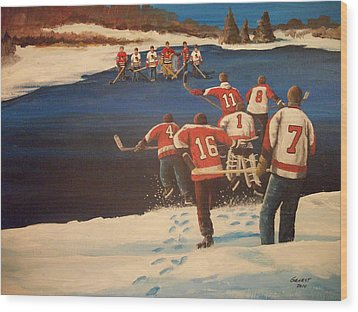 Rematch 2010 - The Bullies Are Back Wood Print by Ron  Genest