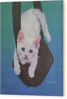 Rembrandt Justa Swingin Wood Print by Wendy Shoults