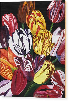 Rembrandt Tulips Wood Print