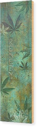 Remedy Wood Print by Gayle Utter