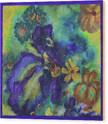Remember The Flowers Wood Print by Donna Blackhall
