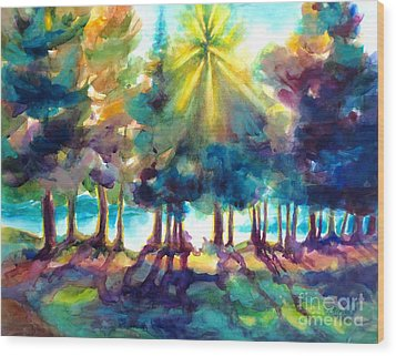Wood Print featuring the painting Remember The Son by Kathy Braud