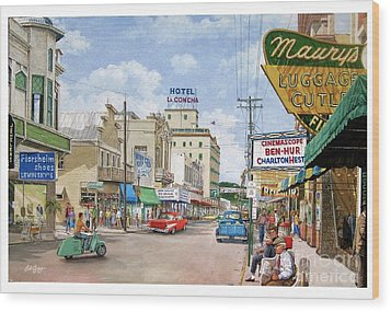 Remembering Duval St. Wood Print by Bob George