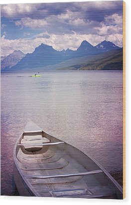 Wood Print featuring the photograph Remembering Lake Mcdonald by Heidi Hermes