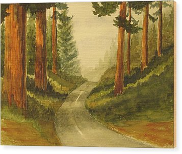 Remembering Redwoods Wood Print by Marilyn Jacobson