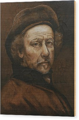 Wood Print featuring the painting Remembering Rembrandt by Al  Molina