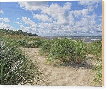 Remembering Summer Beach Scenes Wood Print