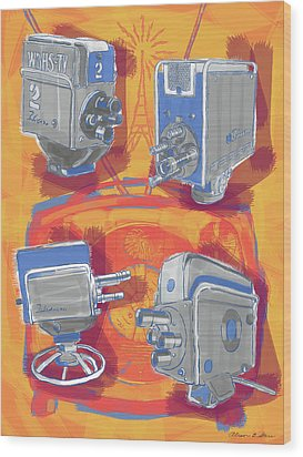 Remembering Television Wood Print