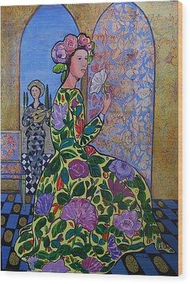 Remembering The Flower Door Wood Print by Marilene Sawaf