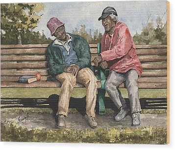 Remembering The Good Times Wood Print by Sam Sidders