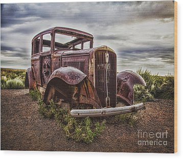 Remembering U.s. Route 66  ... Wood Print by Chuck Caramella