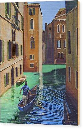 Remembering Venice Wood Print