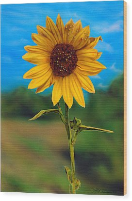 Reminiscing Glorious Summer Days Wood Print by Rick Primeau