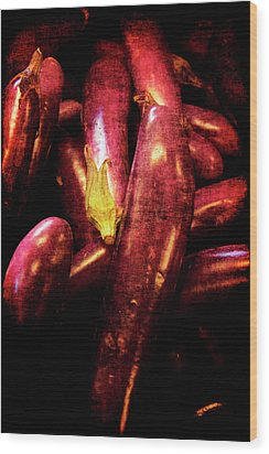 Renaissance Chinese Eggplant Wood Print