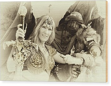 Wood Print featuring the photograph Renaissance Festival Barbarians by Bob Christopher